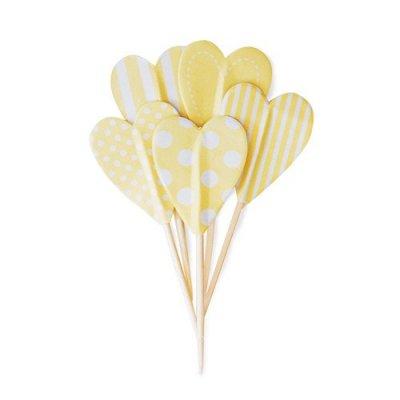 Cake toppers - Gula hjärtan