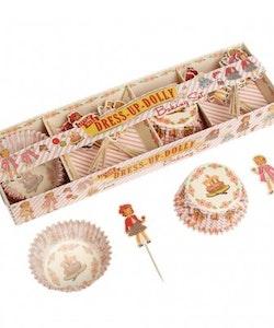 Muffinsformar - Dress up dolly