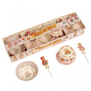 Muffinsformar, Cake toppers set - Dress up dolly
