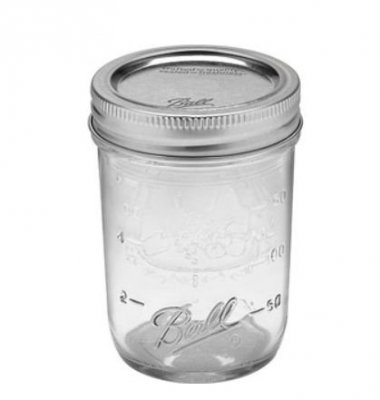 Ball Mason Jar- half pint jars 8 oz