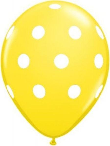 Ballong - gul med prickar