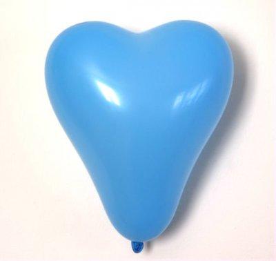 Ballong - hjärtan, ljusblå
