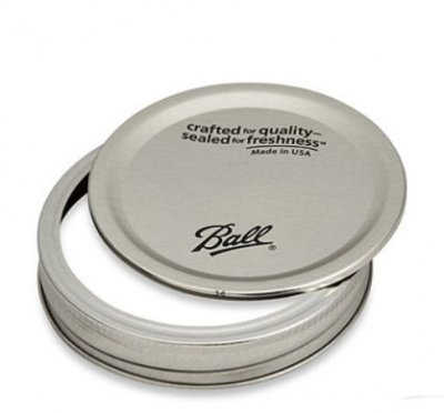 Mason Jar Ball lids with bands - regular