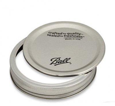 Mason Jar Ball lids with bands - regular