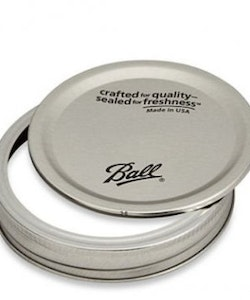 Mason Jar Ball lids with bands - wide