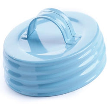 Mason Jar Lid regular - ljusblå med handtag