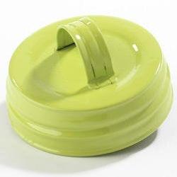 Mason Jar Lid regular - grön med handtag