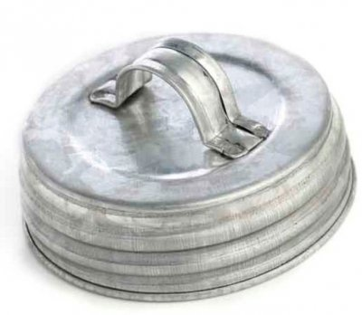 Mason Jar Lid regular - galvaniserad med handtag