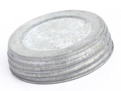 Mason Jar Lid wide - galvaniserad