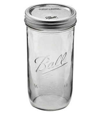 Ball Mason Jar - pint and a half wide mouth 24 oz