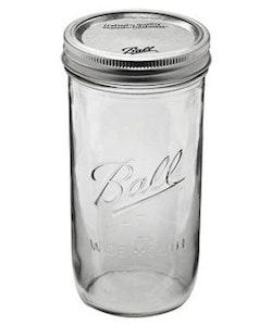 Ball Mason Jar - pint and a half wide mouth 24 oz
