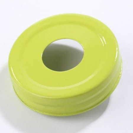 Mason Jar Lid - grön, stort hål