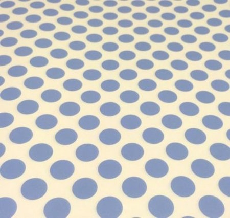 Presentpapper - ljusblå/vit