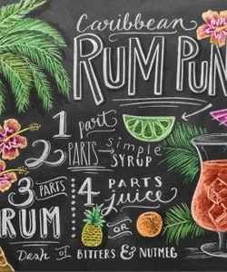 Print - Caribbean Rum Punch Recipe