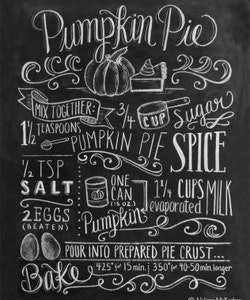 Print - Pumpkin Pie Recipe