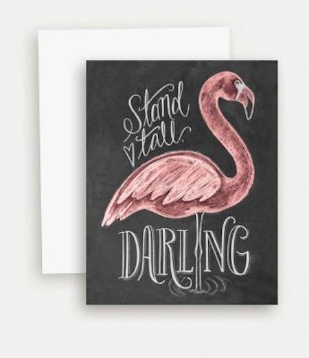 Kort - Flamingo Stand Tall Darling