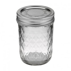 Ball Mason Jar- Quilted Chrystal Jelly Jars 8 oz