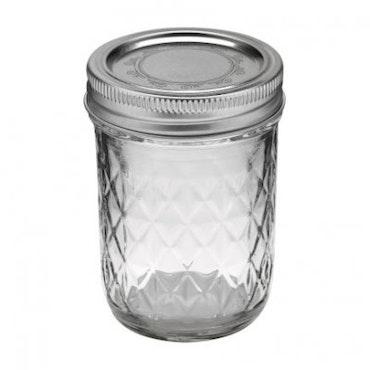 Ball Mason Jar- Quilted Chrystal Jelly Jars 8 oz