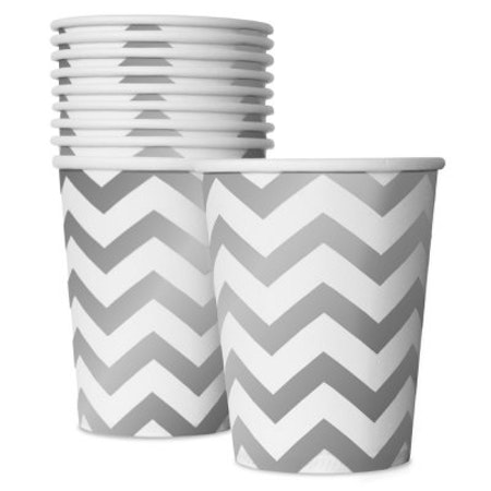White Silver Cups
