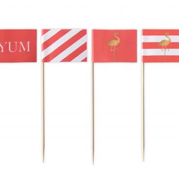 Cake toppers - Flamingo flaggor
