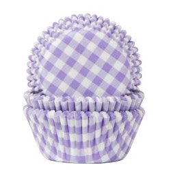 Muffinsform - Lila/vitrutig