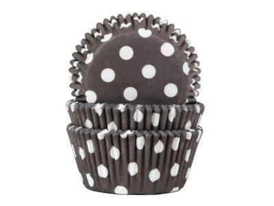 Muffinsform mörkgrå/vitprickig