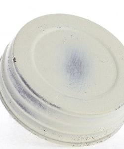 Mason Jar Lid wide - ivory washed