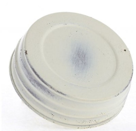 Mason Jar Lid wide - ivory washed