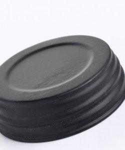 Mason Jar Lid regular - svart