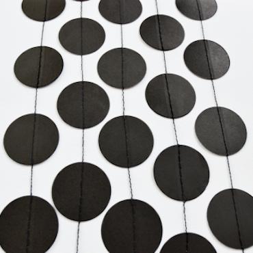Cirkel Girlang - 3 meter, svart