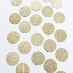 Circle Garland - 3 meter, guld