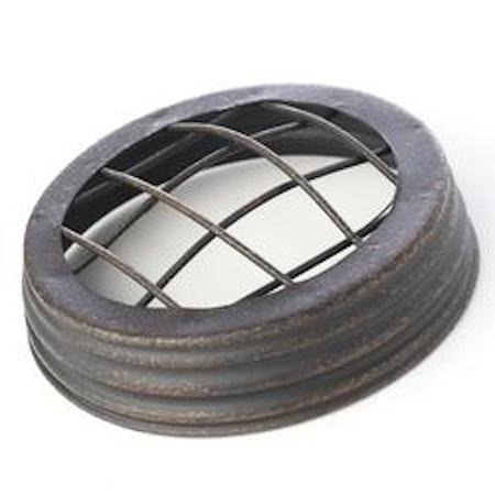 Mason Jar lid wide - frog jar lid, svart
