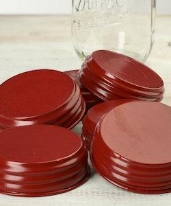 Mason Jar Lid regular - röd 2:A SORTERING