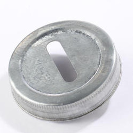 Mason Jar Lid regular - galvaniserad, myntinkast
