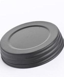 Mason Jar Lid wide - matt svart