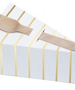 Pie Box - Guld/Vit - 10-pack