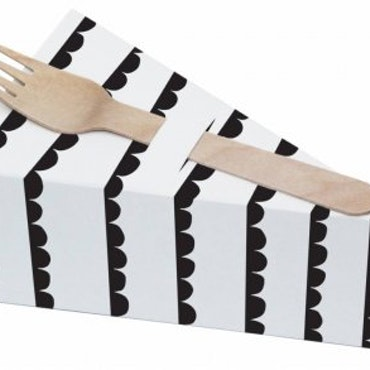Pie Box - svart girlang - 10-pack