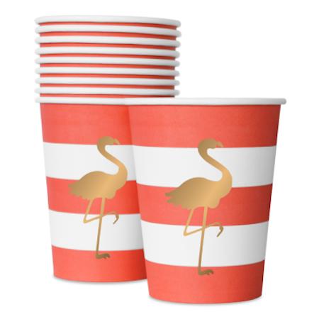 Preppy Flamingo cups