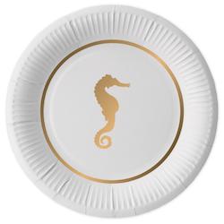 Preppy Seahorse paper plates