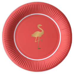 Preppy Flamingo - Papperstallrikar