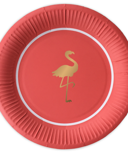 Preppy Flamingo paper plates