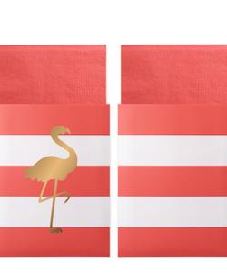 Servett Preppy Flamingo - Delight Department