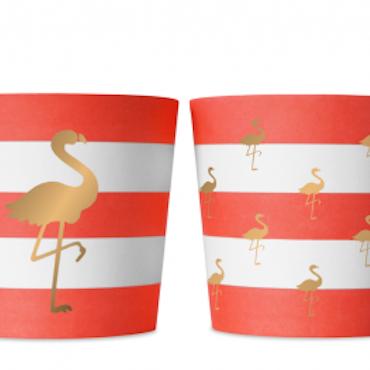Food cups - Preppy Flamingo