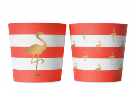 Food cups - Preppy Flamingo