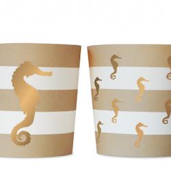Food cups - Preppy Seahorse
