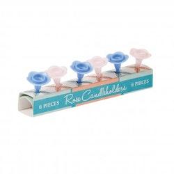 Tårtljushållare - rosor