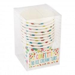 Glassbägare - confetti
