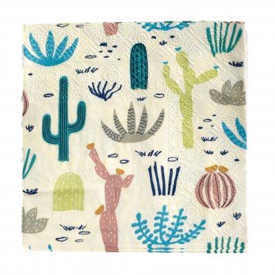 Öken, kaktusar - servetter