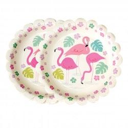 Flamingo - papperstallrikar