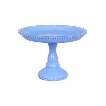 Tårtfat, blå - liten